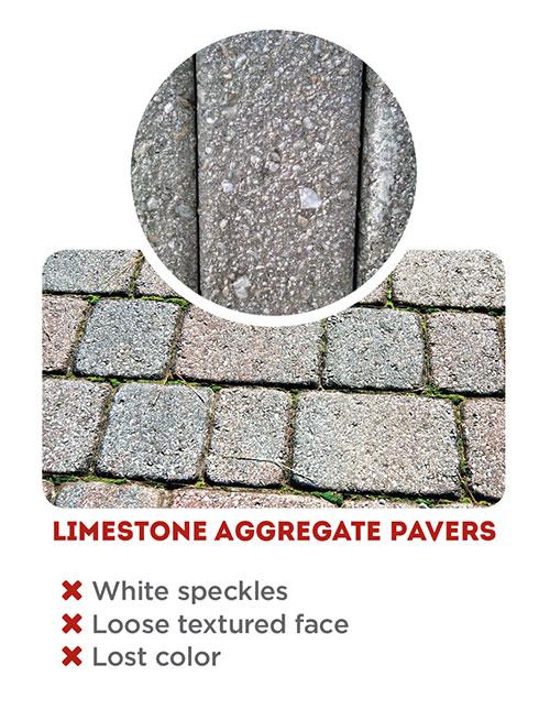 no limestone pavers