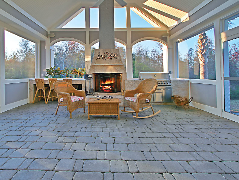 indoor porch pavers