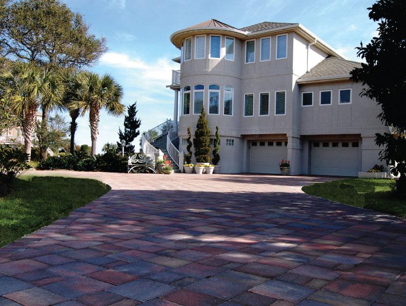 lowcountry cobble paver driveway