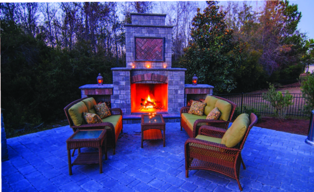 Build Your Own Paver Fireplace