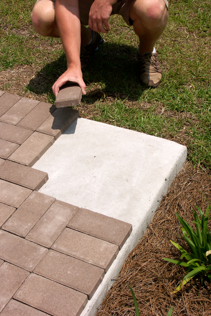 How To Put Pavers Over Concrete
