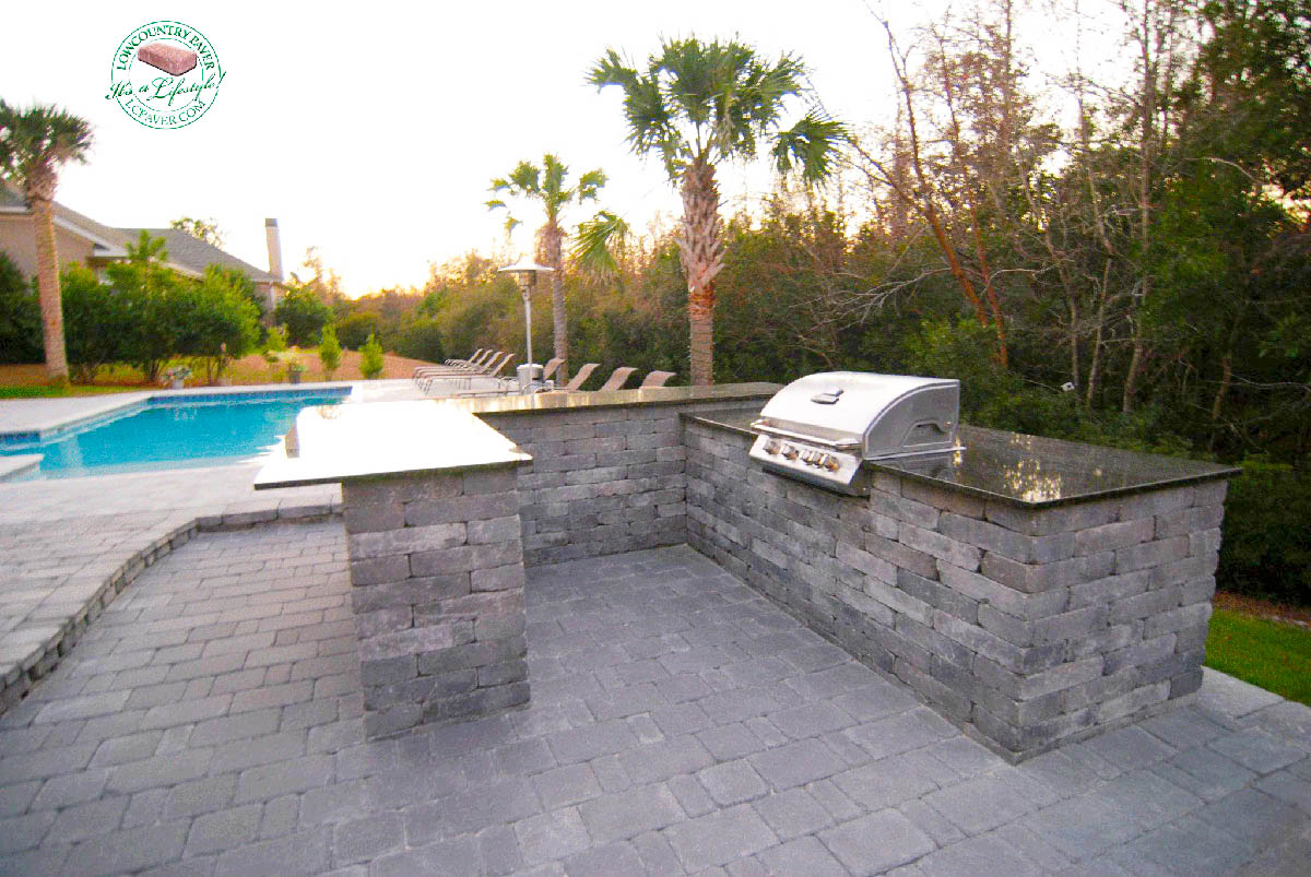 Outdoor Kitchen Fireplace Outdoor Kitchen Fireplace Lowcountry Paver