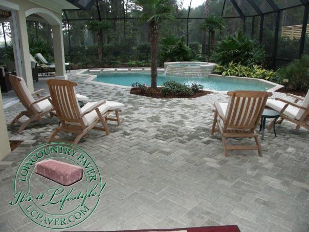 outdoor paver patio hilton head, bluffton, charleston, savannah