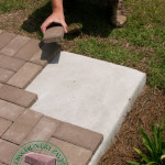 laying pavers over concrete