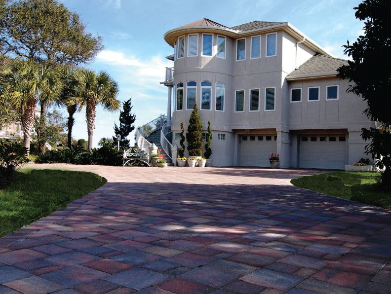 lowcountry cobble paver driveway