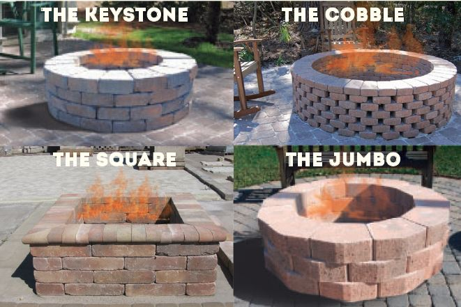diy fire pit kit pavers