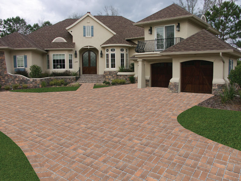 hydrashed permeable paver driveway