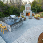 charleston outdoor fireplace living areas
