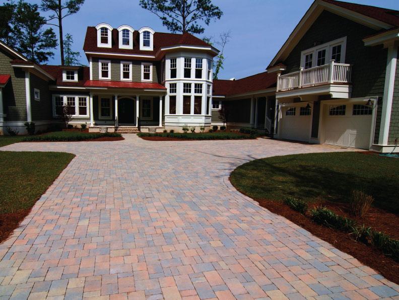 permaflow cobble paver driveway