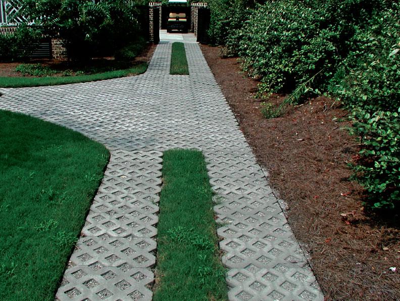 turf block paver walkway