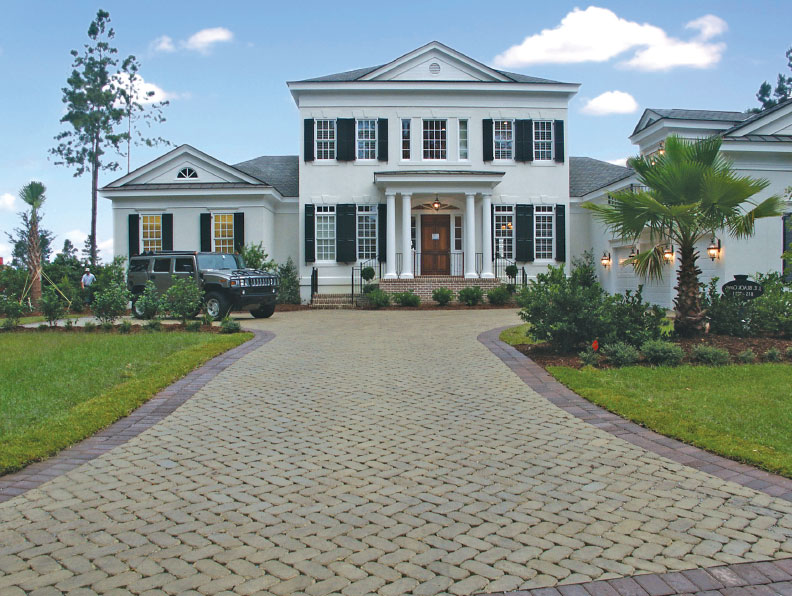 watershed permeable paver driveway